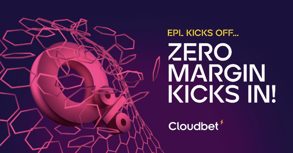 Cloudbet crypto sportsbook, zero margins on the English Premier League.