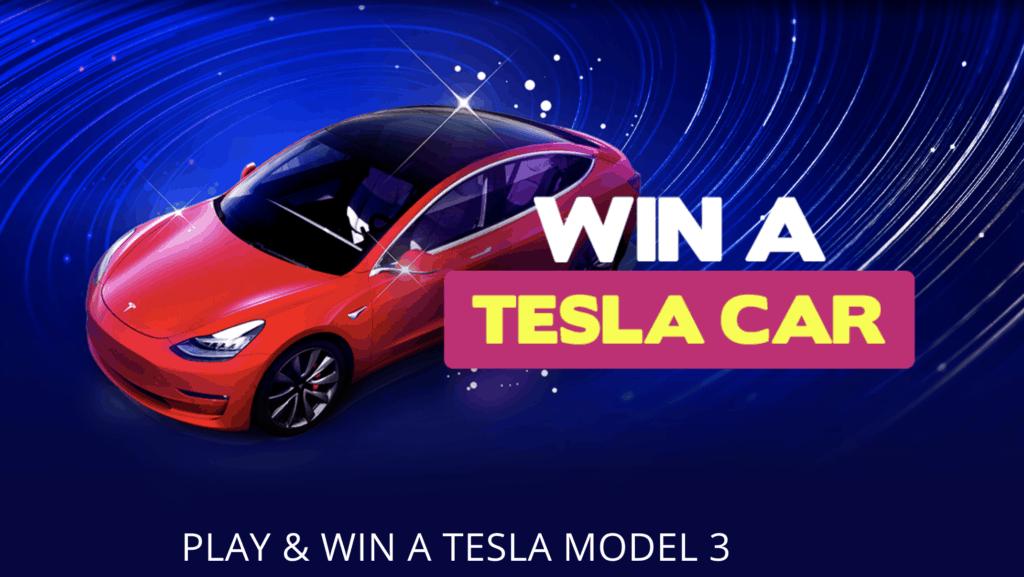 Win a Tesla Model 3 car with bitstarz casino.