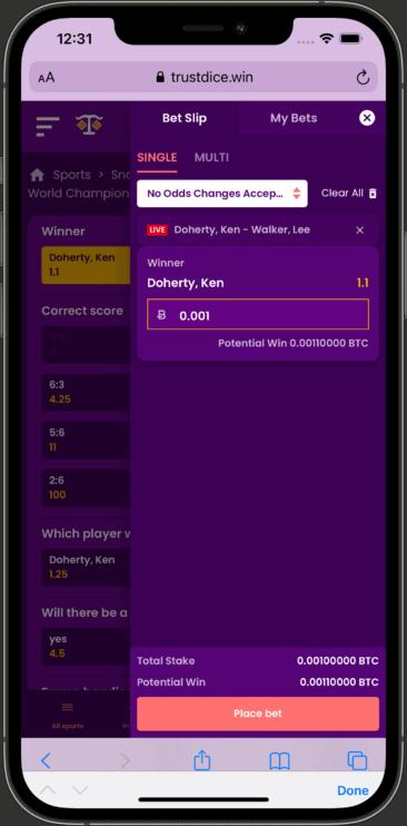 Bet-in-play-TrustDice-mobile